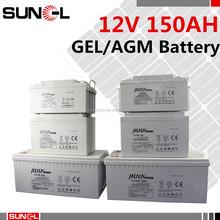 high temperature GEL battery 12V 150AH for solar and outdoor telecom