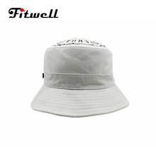 custom logo design white printed bucket hat