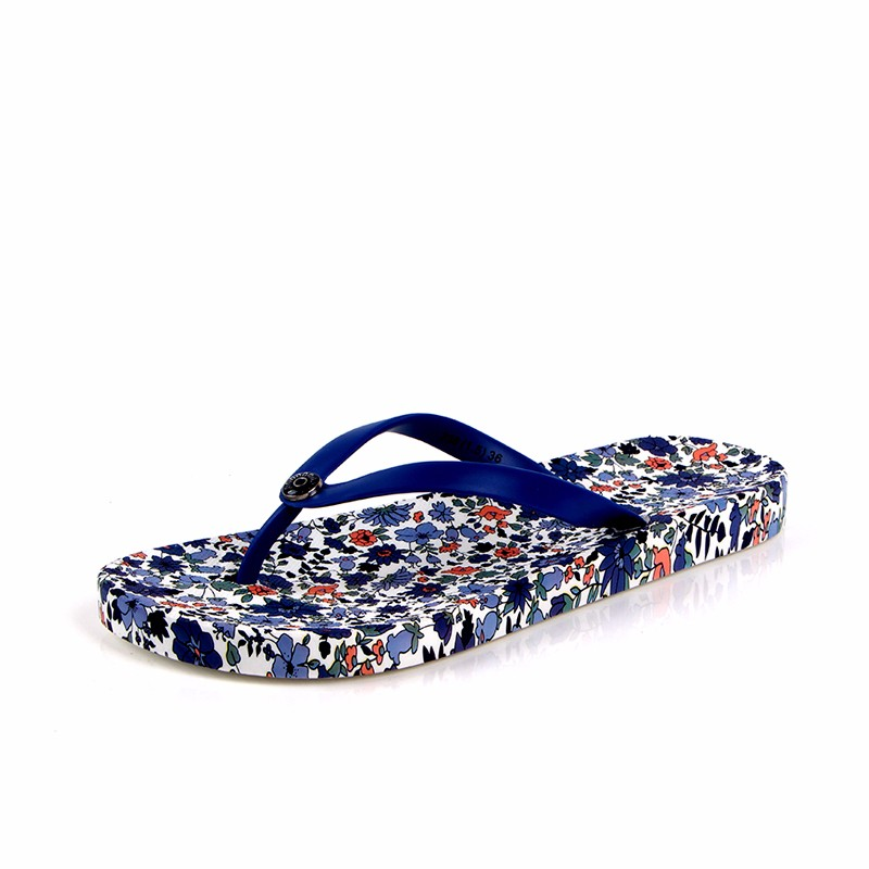 2017 cheap hotel women nice printed Cotton coral upper daily use bathroom slippers