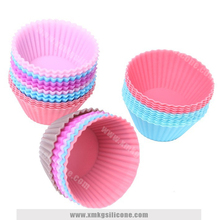 Wholesale custom round shape silicone cupcake baking mold muffin cases