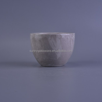 new product home decor grey ceramic candle vessel
