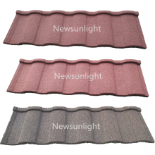 Color stone coated steel roof tiles prices