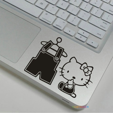 new products 2016 laptop decal small black skins hello kitty wrist sticker with waterproof
