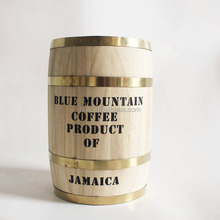 custom round wood coffee bean barrel for sale