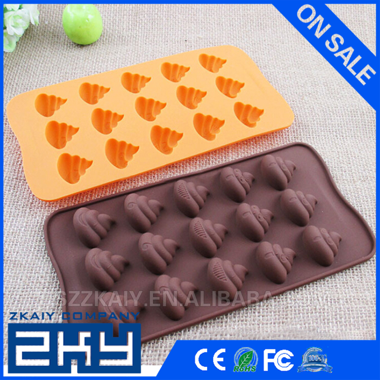 3D Poo Faeces Shit Shape Chocolate Candy Jello 3D Silicone Mold Cake Tools Bakeware Pastry bar Soap Mold