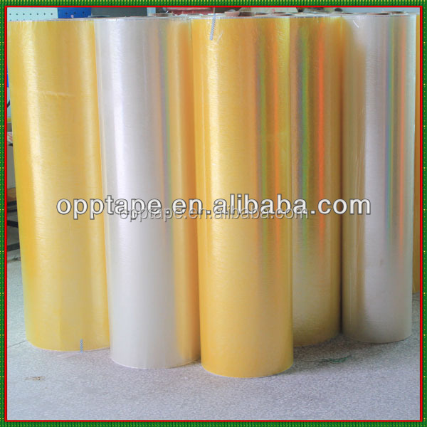 Hot sale high quality 20 micron acrylic coated bopp film cheap price offer