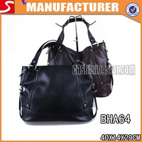 Wholesale direct factory leather gun bag with black