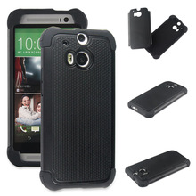 TPU AND PC 2in1 COMBO HYBRID HARD SOFT ARMOR BACK COVER FOR HTC ONE M8 MINI CASE