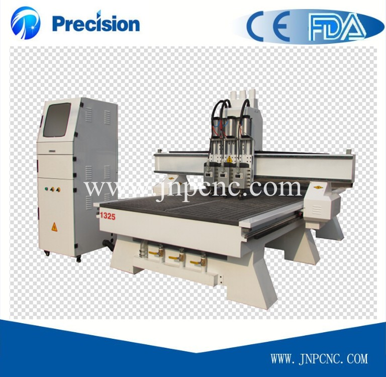 sale best quality multi-purpose multi head 1325 carpentry cnc router