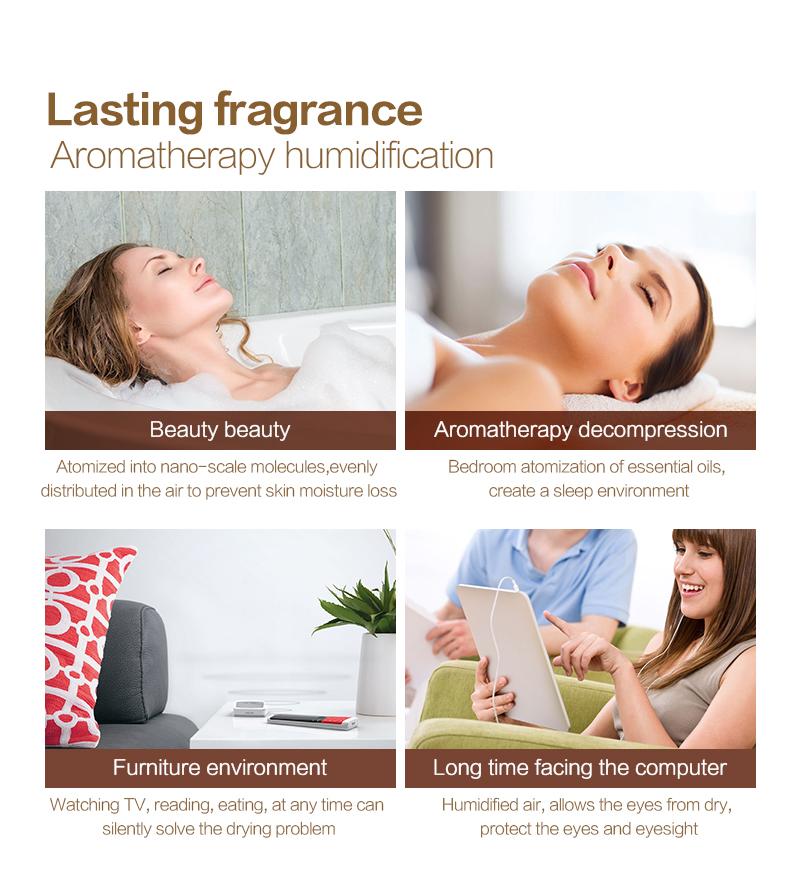 Diffuseur d'huiles essentielles USB KBAYBO bois, aromathérapie, beauté, parfum durable, à tout moment