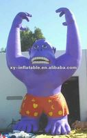 25' Inflatable Purple Gorilla With Shorts