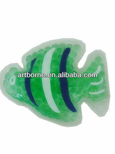 Artborne Reusable ,Microwaveable Beads Hot Cold Pack Cooling Pad in Green Color
