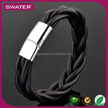 New Product Fashion Mens Stainless Steel Clasps Magnetic Clasp Bracelet