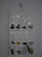 Storage bags with pockets, Door Hanging Organizer with Mirror, Hooks