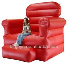 inflatable red sofa,large sofa model for advertising