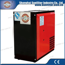 compressed refrigerant air dryer for air compressor with R407c or R134a
