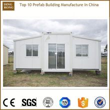 two bedrooms single storey ready assemble mobile modular container house villa / resort