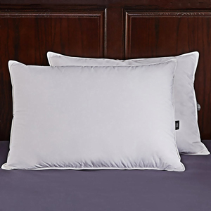 FREE SHIPPING! WHITE DOWN AND FEATHER FIBER PILLOW FOR SLEEPING WITH 100% COTTON COVER, SET OF 2