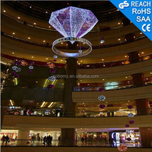 Ring/Diamond shape lighting decoration,indoor mall holiday decoration