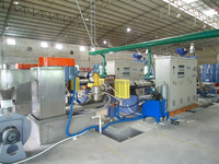 wasted plastics film granulating pelletizing line