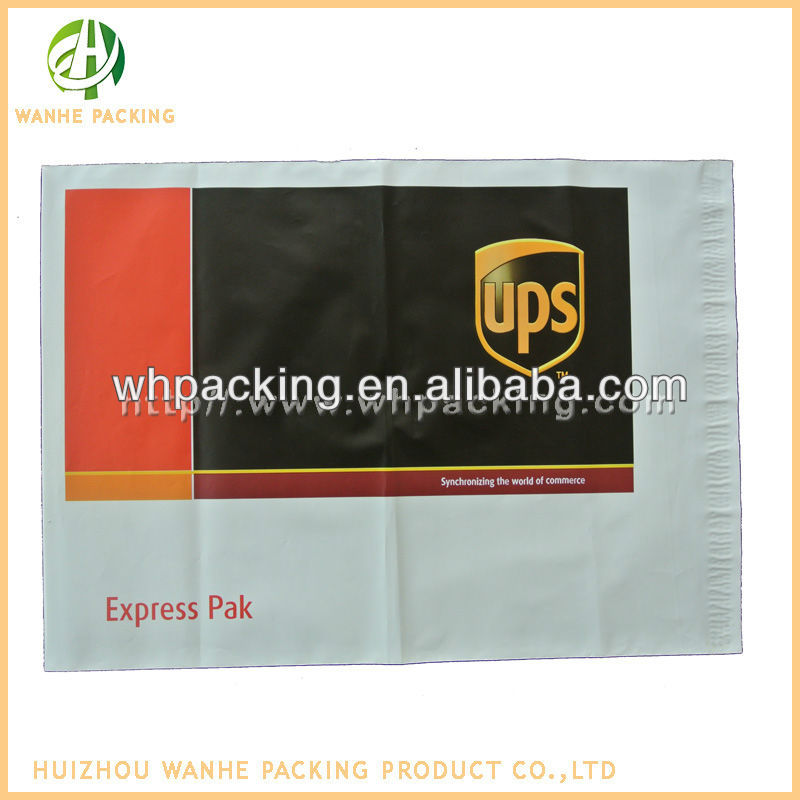 UPS plastic mail bags with custom adhesive tape