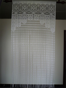 German style lace string curtain for home decor