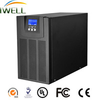 IWELL pure sine wave lcd displayer 220vac 2kva power supply HF online ups