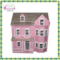 Mini Furniture Sweet Garden Villa DIY Wooden Toy Doll House