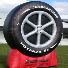 Sunway Inflatable Giant Advertising Tire Display / Outdoor Giant Inflatable Tire For Advertising