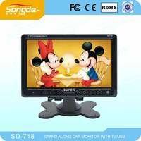7 inch lcd monitor with av input, RCA, S JACK, AVIATION connector optional