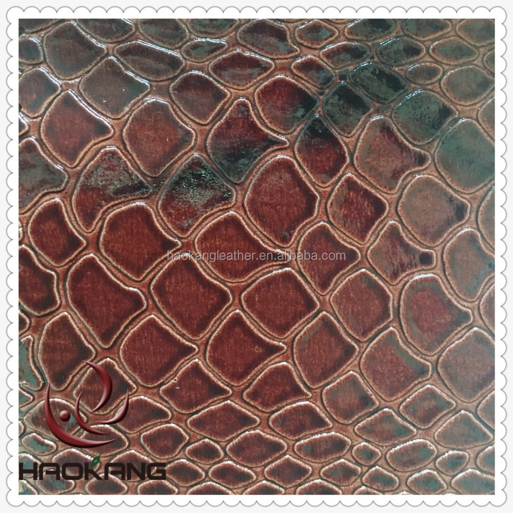 wholesale embossed snake skin faux leather