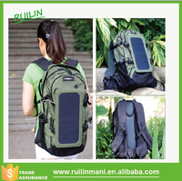 Fashion new military hiking backpack with solar panel
