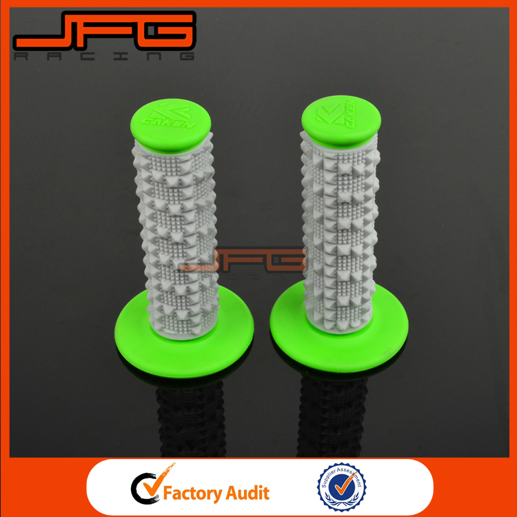 Universal Green Soft MX Gel Rubber Handlebar Hand Grips For Kawasaki Motorcycle Motocross Spare Parts