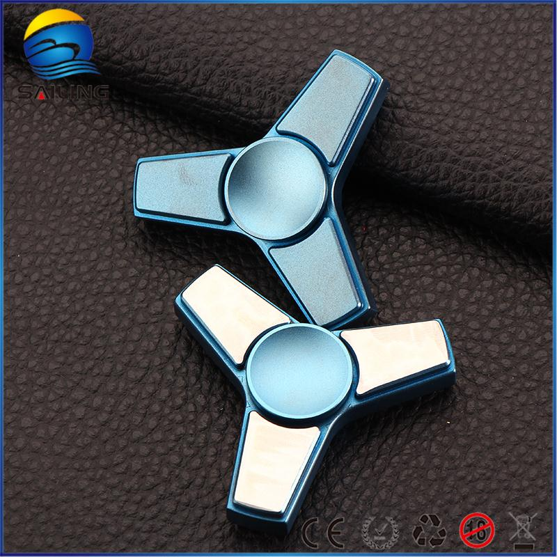 2017 hot sale mini metal stainless steel finger spinner toy for kids or adults
