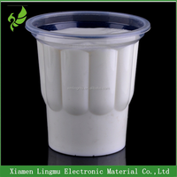 250ml Disposable custom logo plastic sundae ice cream cup with lids