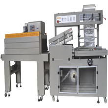 BS-400LA+BMD-450C full-automatic pizza wrap shrink machine