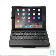 2016 Hot sell Items stand holder PU Leather Case wireless Bluetooth Keyboard for Apple iPad Mini 4