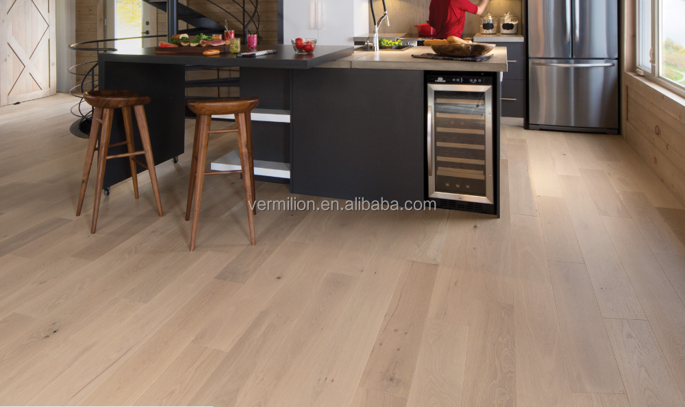 Nature UV Lacquered Water Resistant Style Selections Bamboo Wood Flooring for Kitchen