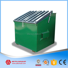 Cheap front skip bin from China factory rubbish skip bin for waste recycle managent