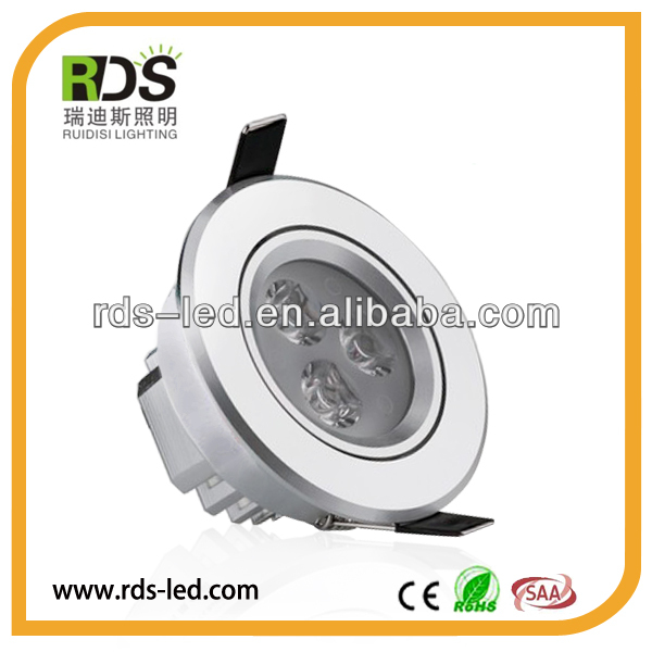 High lumen 3W led cabinet led downlight 55mm