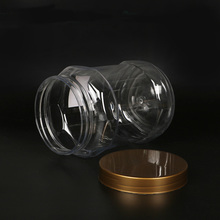 1 litre clear honey/candy/jam PET plastic jar