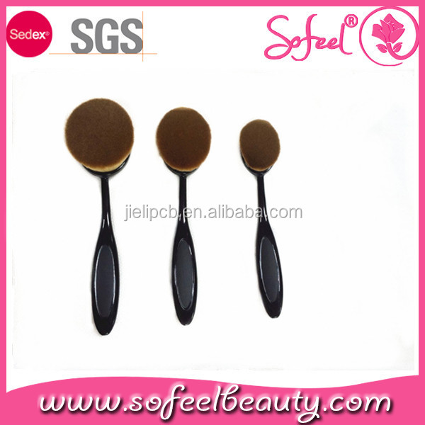 Sofeel good quality powder toothbrush custom cosmetic brushes