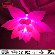 Decoration inflatable RGBW lighting flower balloon