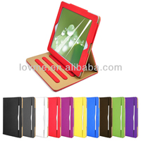 Premium high quality wallet smart flip leather case for apple ipad air