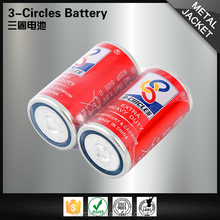 3-CIRCLES 1.5v carbon dry cell leakproof r20p d size um-1 battery