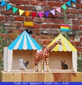 Circus Wooden House Shelf Kids Room Decoration