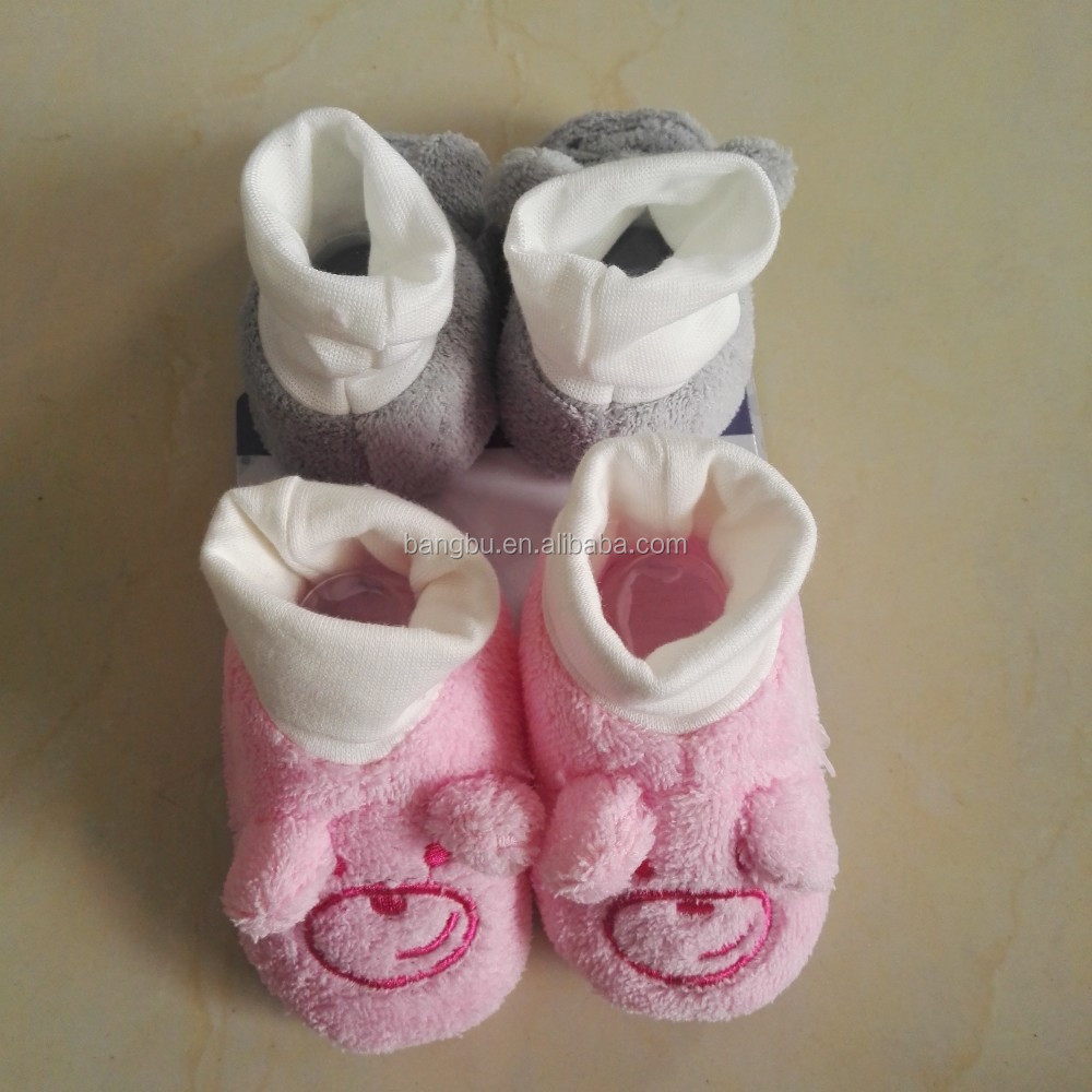 Coral fleece baby shoes cute cartoon infant toddler shoes