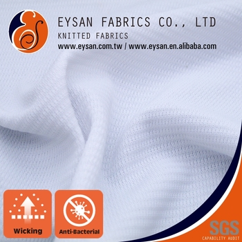 EYSAN Antibacterial Quick Dry Polyester Interlock Mesh Fabric