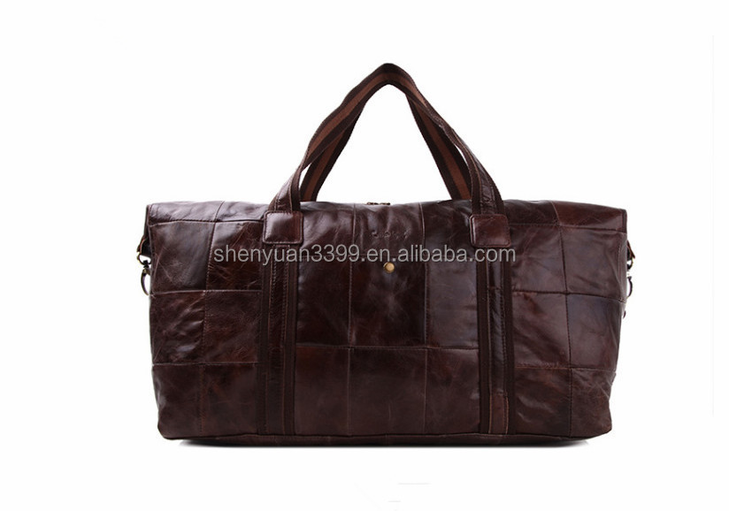 Import China Goods beat selling real Leather Tote Travel Bag,vintage Style Men's Laptop Messenger Bag