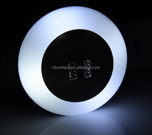 Round shape baby bed subdued light 2.4V output night light with safety usb iphone charger